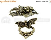 30% Retirement Closeout - Antique Brass, 22mm, Dragonfly Toggle Clasp, 5 Clasps, 5CL09-0001