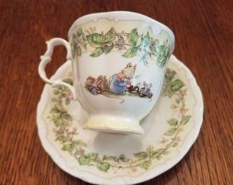 Brambly Hedge  Royal Dalton Spring Tea Cup & Saucer 1983