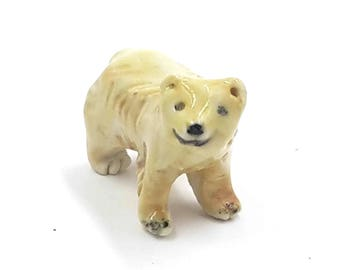little bear - miniature golden bear - terrarium miniatures