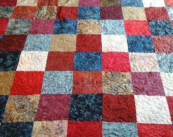 King size batik quilt
