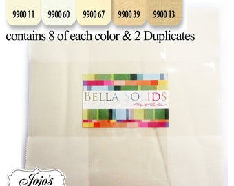 Bella Solids Layer Cake Neutral by Moda Fabrics SKU 9900LC 21