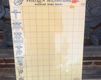 Vintage Wangs Macrame Work Board New Old Stock Sealed