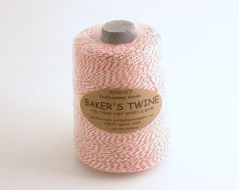 Bakers Twine Thread Red White Whole Spool Professional Grade Christmas Twine