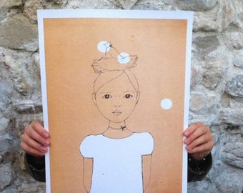 Sale Large print of Dove girl