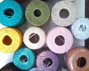 Crochet Thread Assorted. Some New or Almost
