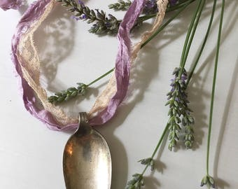 Vintage Silver Plated Spoon Pendant