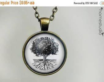 ON SALE - Deep Roots : Glass Dome Necklace, Pendant or Keychain Key Ring. Gift Present metal round art photo jewelry by HomeStudio