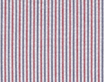 ON SALE PATRIOTIC Seersucker Tablecloth - Red white, and blue,  Cotton, wedding, bridal, baby shower, All shapes,  Memorial day, independenc