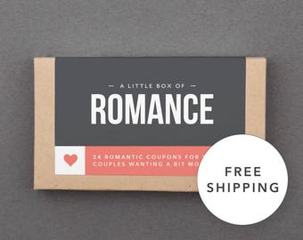 """Fun, Funny Gift for Girlfriend, Wife, Boyfriend, Husband, Her, Him. Free Shipping. Christmas Gift Under 25. """"Romantic Coupons"""" (L2ROM)"""