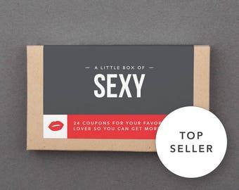 """Funny First Paper Anniversary Gift. For Boyfriend, Man, Men, Husband, Him. Kinky, Naughty, Romantic. """"Sexy Sex Coupons"""" (L2SEX)"""