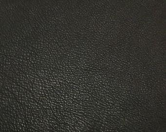 Dark CHOCOLATE BROWN cow hide Leather Piece #2 5x9""