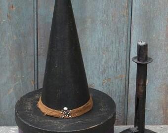 Primitive Witch Hat Box - Purple