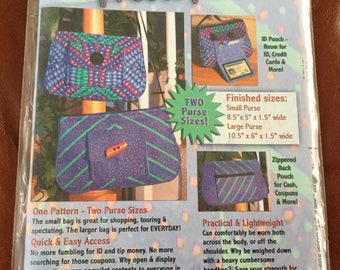 The Presto Zippered Purse pattern, Uncut, Two Sizes Included