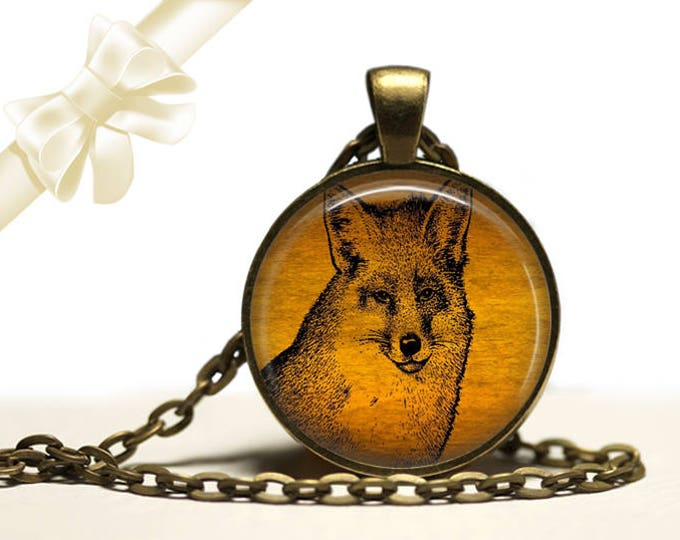 Fox Necklace brass Pendant Necklace Free Shipping Gifts for her