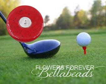 Flower Petal Jewelry, Golf Ball Marker, Pet Memorial, Bereavement Gifts for Men, Sympathy Gifts, Golf Ball Marker with Initial, Hamilton