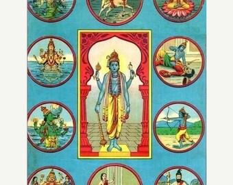 ON SALE Dashavatara - the 10 Incarnations of Vishnu ebook