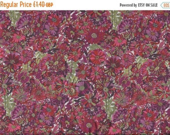 """SUMMER SALE Liberty Tana Lawn WILLOW Rose pink/red 20 x 20cm (8"""" x 8"""") piece"""