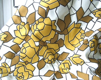 """52"""" x 44"""" Golden Brown Roses Fabric"""
