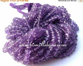Sale 45% off 14 Inches Natural Amethyst Micro Faceted Rondelles Beads Size 3.5mm (Natural stone wholesale price)