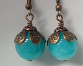 Blue Earrings Blue Stone Earrings, Blue Dangle Earrings, Blue Jewelry, Bridesmaid Jewelry Gift for Her