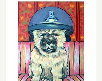 20% off storewide Chow Chow at the Salon Dog Art Print