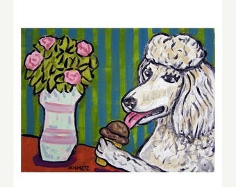 20% off Poodle at the Ice Cream Parlour Art Print