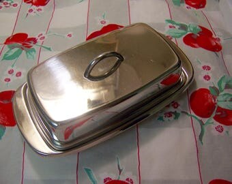 lovely stainless steel butter dish