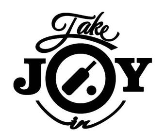 WEEKEND SALE Take Joy In Cricket Decal