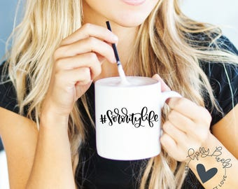 Hashtag SororityLife SVG Design with Brush Lettering for Sorority SVG Crafts Sorority Life