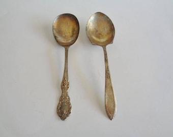 Vintage Mismatched Serving Spoons