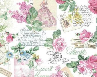 Italy Roses And Ephemera Italian Paper  IP N011