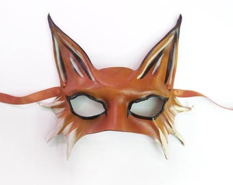 Leather Fox Mask As Seen In Toyota Commercial middle sized half face fox Sexy mask very lightweight easy to wear