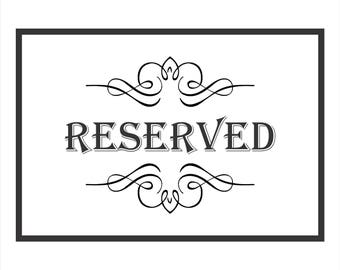 3 wood signs - Reserved order