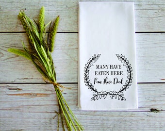 Tea Towel Wedding Gift Housewarming Gift Customizable