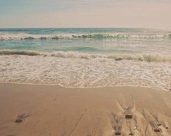 SALE beach photograph, San Diego print, beach nursery art, girls room decor, large wall art, la playa, California decor, travel photography
