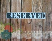 Reserved for Jeanette