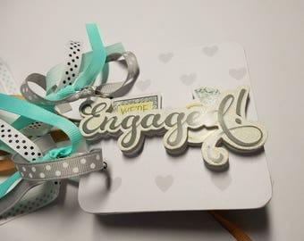 Engaged Mini Album, Engaged Scrapbook, Premade Album, Photo Album, Brag Book, Memory Book, Will you marry me, Chipboard Album, she said yes