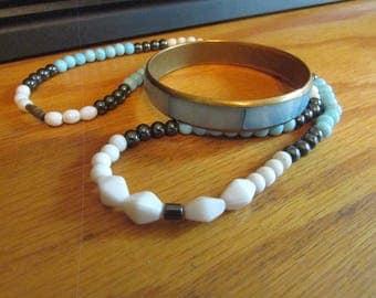 mother pearl bracelet necklace