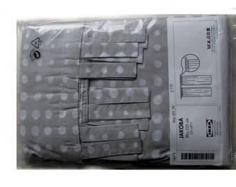 Ikea Jakoba tab top curtains one pair new 35X89 polka dots