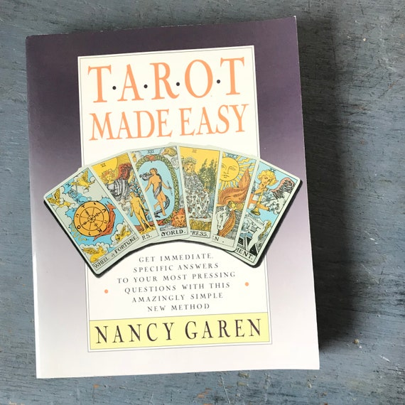 vintage Tarot Made Easy book - Nancy Garen - tarot reading - divination - how to reference guide - 1989