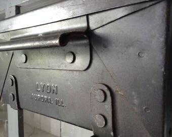 Vintage Industrial Stacking Bins Charcoal Grey Lyon Mfg