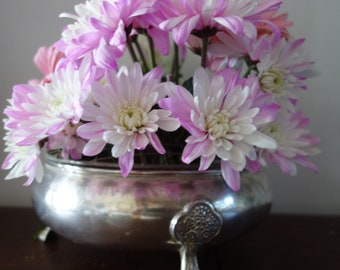 vintage silver plated posy bowl
