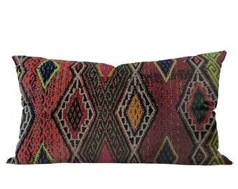 Coussin Vintage Kilim turc | NEON 12 x 24