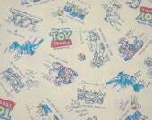 Disney Licensed Toy Story Print  Fabric Woody  Buzz Lightyear and Many more  half meter 19.6 by 42 inches nc52