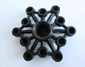 Tiny Taper Black Cast Aluminum Candleholder in the Style of Jens Quistgaard for Dansk IHQ