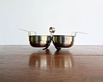 Nils Johan Sweden Vintage Modern 4 Bowl Chutney Stand S/S 18-8, w/ Gense S/S 18-8 under tray