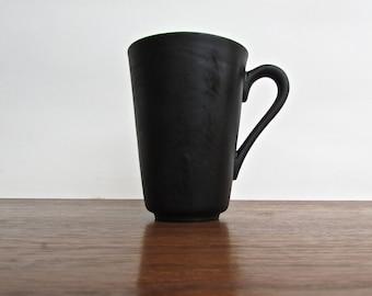 Kenji Fujita designed for Freeman Lederman, Flat Black Tea Cup, Vintage White Porcelain
