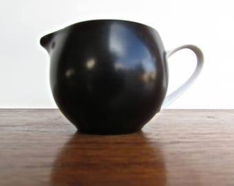 Couture Porcelain, B-4701 Nuit, Fine Translucent China Cannonball Creamer, Made in Japan