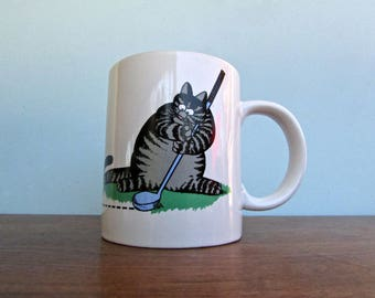 Kliban Cat Mug, Mouse Golf - Gift Creations INC. - Chatsworth, California - Vintage 1980