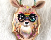 Rainbow Gazantelope Teacup Faux Taxidermy